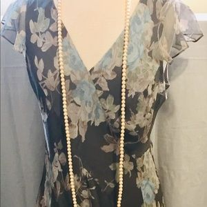 Vintage CHARTER CLUB 100% Silk Throw back 1920's